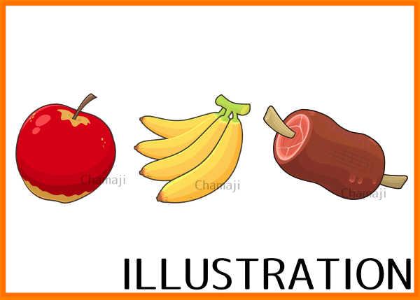 illustrator作画練習【武器と食べ物】