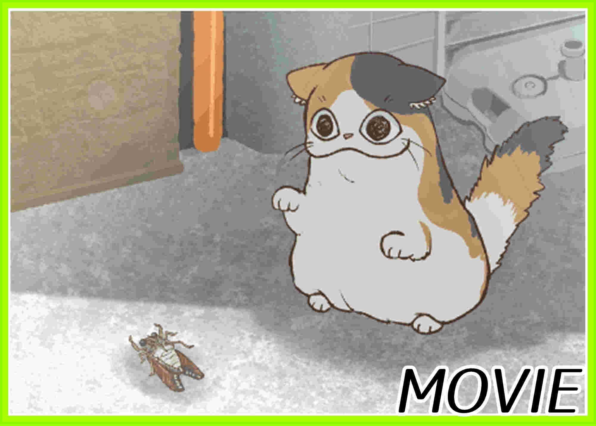セミと戦うネコ様